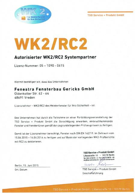 wk2 rc2 zertifizierte fenster. Black Bedroom Furniture Sets. Home Design Ideas